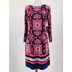 New Vince Camuto Shift Dress Patterned Ity T-Body